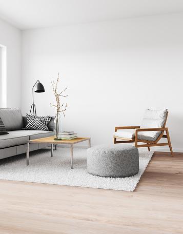 Combinación de sofás y butaca para el salón