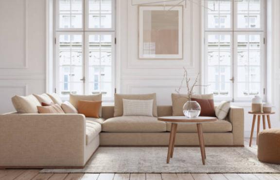 ¿Cómo combinar un sofá beige? Colores en pared y cojines?