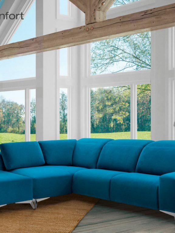 ¿Cómo combinar un sofá azul?